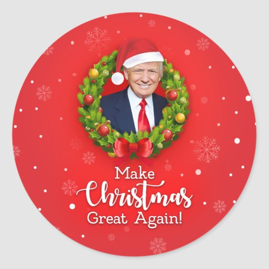 Great Christmas Gifts To Make: Make Christmas Great Again Trump MAGA Funny Gift Classic
