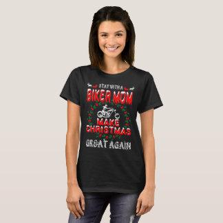 Make Christmas Great Biker Mom Gift Tshirt