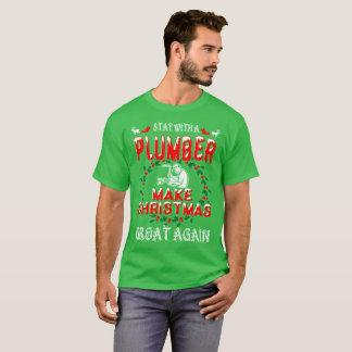 Make Christmas Great Plumber Gift Tshirt