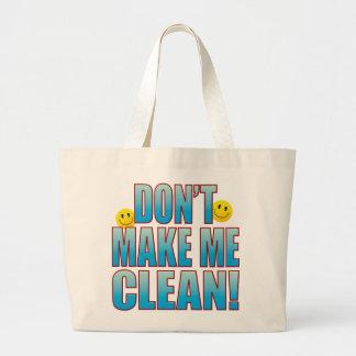 Make Clean Life B Large Tote Bag