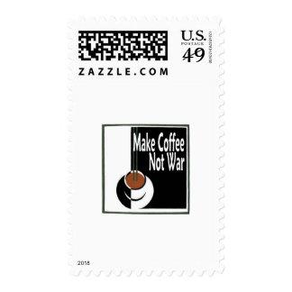 Make Coffee Not War Stamp