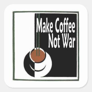 Make Coffee Not War Square Sticker
