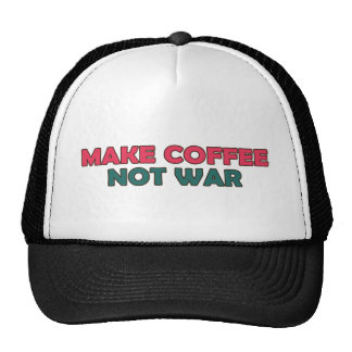 Make Coffee Not War Trucker Hat
