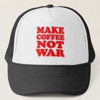 Make Coffee Not War Trucker Hat
