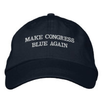 Make Congress Blue Again Embroidered Baseball Hat