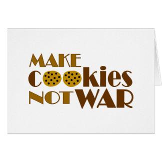 Make Cookies Not War Card