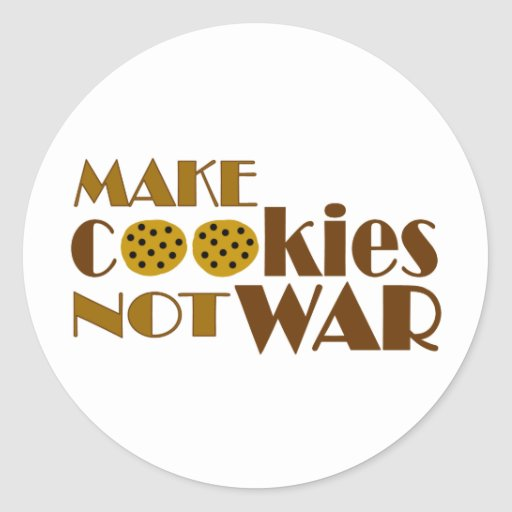 Make Cookies Not War Classic Round Sticker