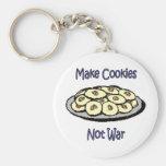 Make Cookies, Not War Keychain