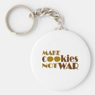 Make Cookies Not War Basic Round Button Keychain