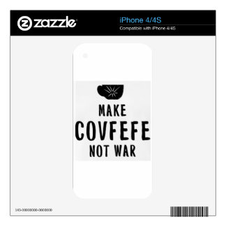 make covfefe not war iPhone 4S decal