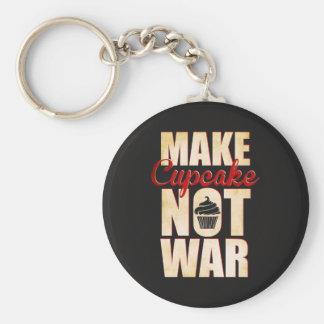 Make cupcake not war keychain
