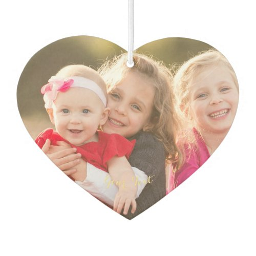 Make Custom Personalized Heart Photo Text Home Car Air Freshener