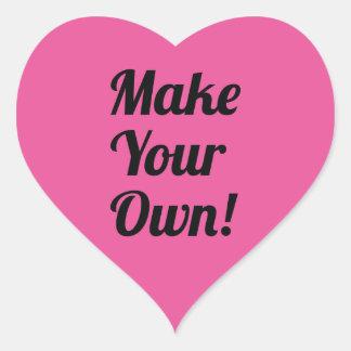 Make Custom Printed Pink Heart Stickers