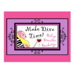 """Make Diva Time""/ Relax postcards"
