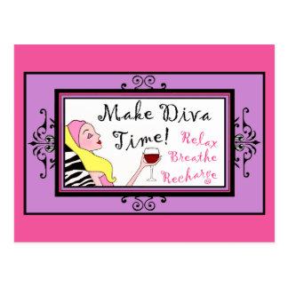 """Make Diva Time""/ Relax postcards"