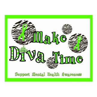 Make Diva Time/Support Mental Health Awareness Postcard