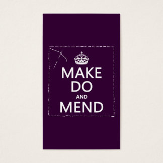 Make Do and Mend (all colors) Business Card