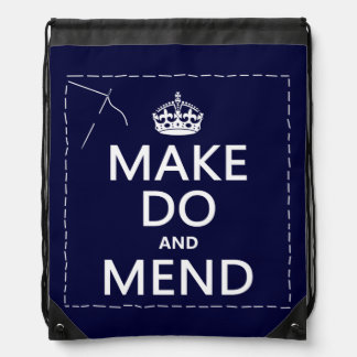 Make Do and Mend (all colors) Drawstring Backpack