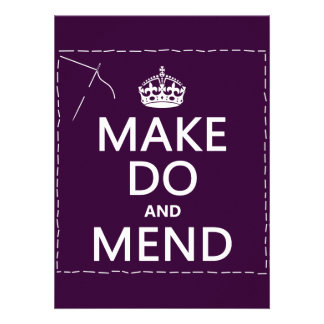 Make Do and Mend all colors Invitations