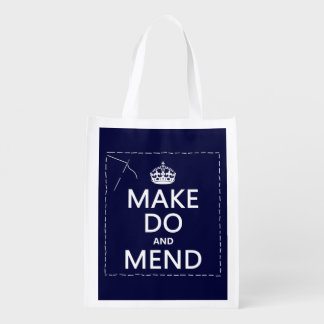 Make Do and Mend (all colors) Reusable Grocery Bag