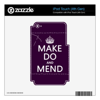 Make Do and Mend (all colors) Skin For iPod Touch 4G