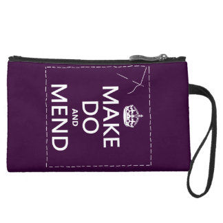 Make Do and Mend (all colors) Suede Wristlet Wallet
