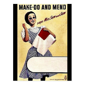 Make - Do And Mend Postcard
