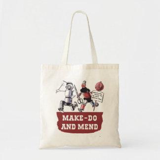 Make do & Mend Sewing Stitching VintageHiking Duck Tote Bag