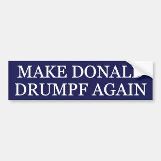 Make Donald Drumpf Again Bumper Sticker