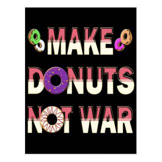 MAKE DONUTS NOT WAR POSTCARDS