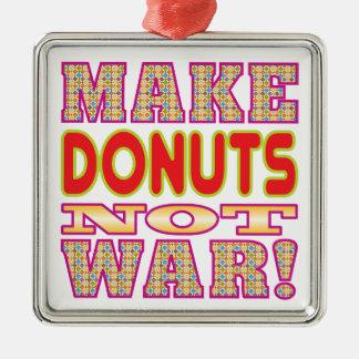 Make Donuts v2 Silver-Colored Square Decoration