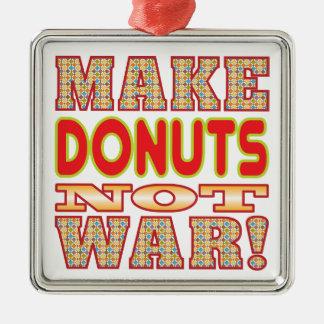 Make Donuts v2b Silver-Colored Square Decoration