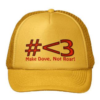 Make Dove, Not Roar! Love Channel Trucker Hat