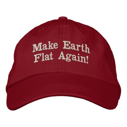 Make Earth Flat Again Trump Hat