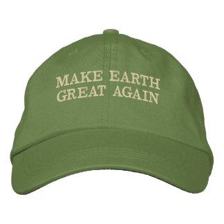 MAKE EARTH GREAT AGAIN - MEGA EMBROIDERED BASEBALL HAT