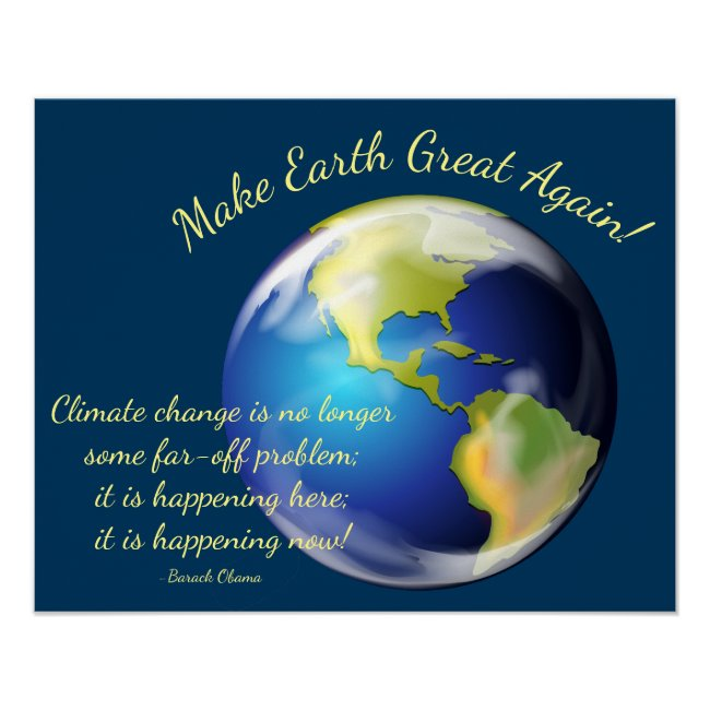 Make Earth Great Again Poster