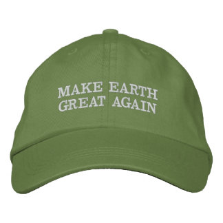 Make Earth Great (and green) Again! Embroidered Baseball Hat