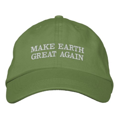 Make Earth Great and green Again Embroidered Baseball Hat
