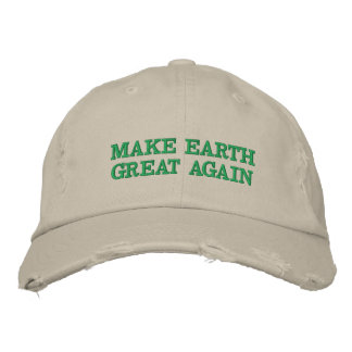 Make Earth Great (and green!) again Embroidered Baseball Hat