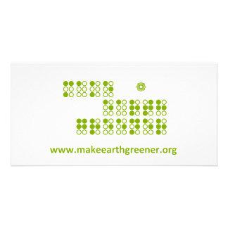 make earth greener braille card photo card