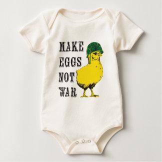 Make Eggs Not War Baby Bodysuit