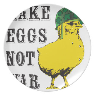 Make Eggs Not War Dinner Plate