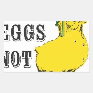 Make Eggs Not War Rectangular Sticker