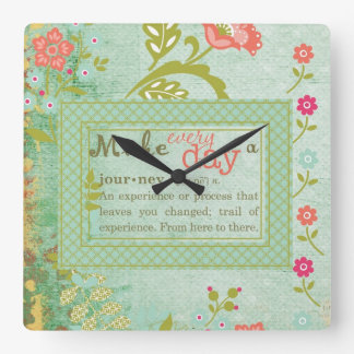 Make Every Day a Journey Square Wall Clocks