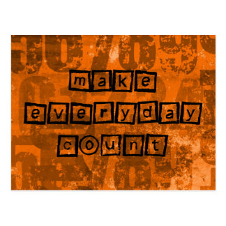 Make Every Day Count with Old Grunge Numbers Postcard