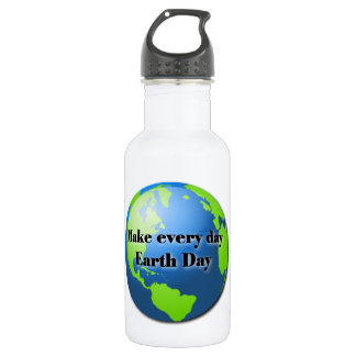 Make Every Day Earth Day 32 oz. 18oz Water Bottle