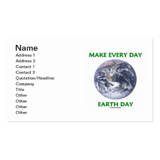 Make Every Day Earth Day (Blue Marble Earth) Double-Sided Standard Business Cards (Pack Of 100)