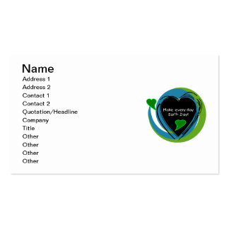 Make Every Day Earth Day Double-Sided Standard Business Cards (Pack Of 100)