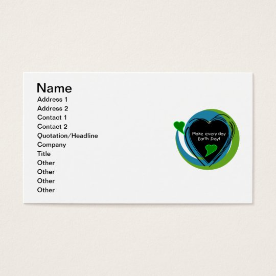Make Every Day Earth Day Business Card