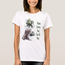 Make Every Day Earth Day - Happy Bear T-shirt